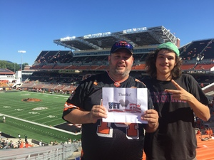 Christopher attended Oregon State Beavers vs. Portland State - NCAA Football on Sep 2nd 2017 via VetTix