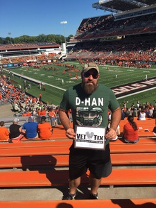 Curtis attended Oregon State Beavers vs. Portland State - NCAA Football on Sep 2nd 2017 via VetTix