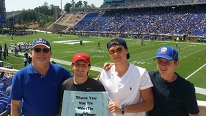 Don attended Duke University Blue Devils vs. Northwestern - NCAA Football on Sep 9th 2017 via VetTix