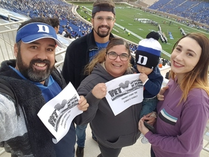 Alvin attended Duke University Blue Devils vs. Georgia Tech - NCAA Football on Nov 18th 2017 via VetTix