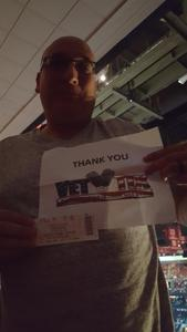 Bradley attended Soul2Soul Tour With Tim McGraw and Faith Hill on Aug 18th 2017 via VetTix