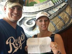 larry attended Kansas City Royals vs. Minnesota Twins - MLB on Sep 10th 2017 via VetTix