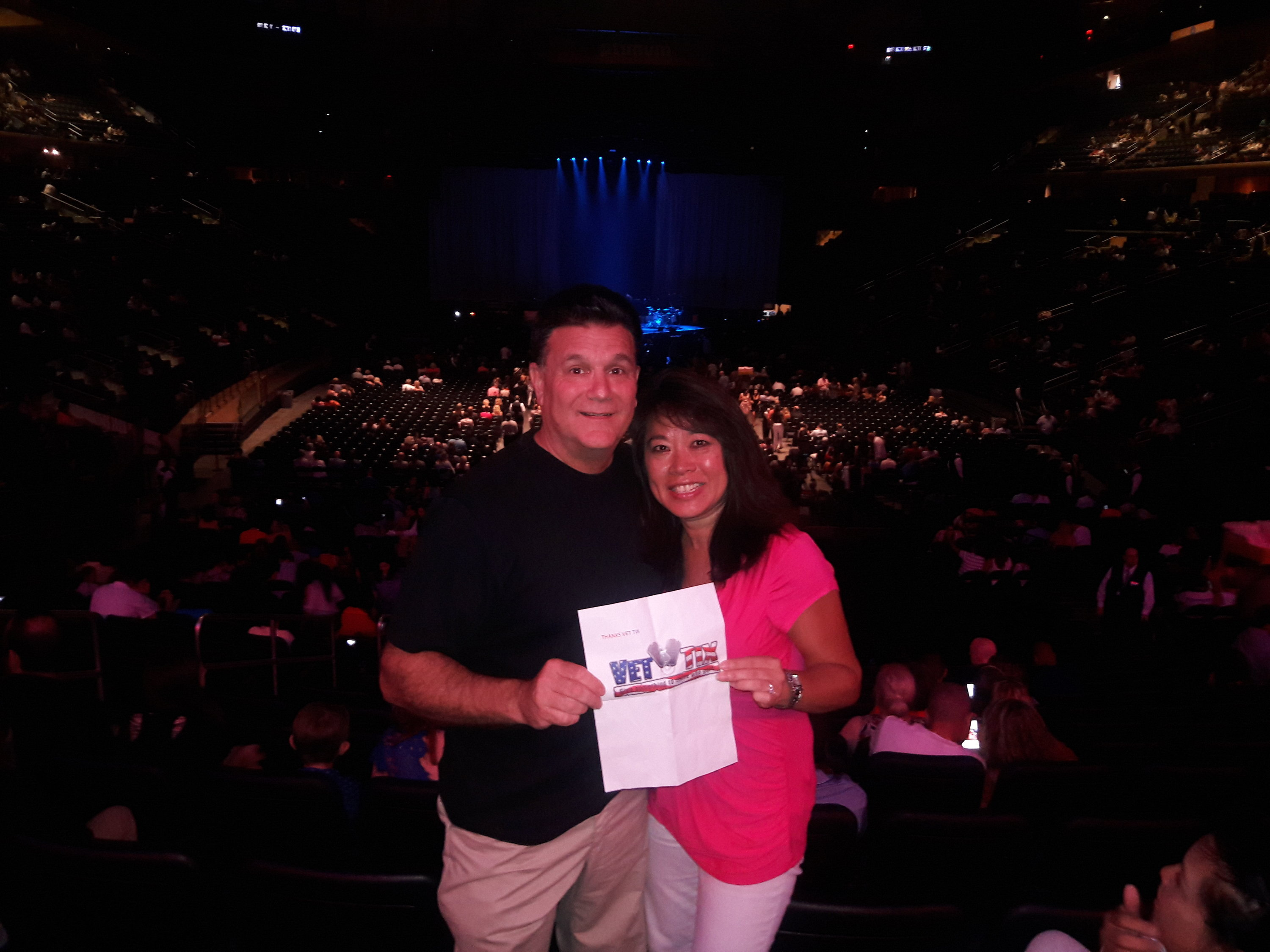 Thank you messages to veteran tickets foundation donors gary attended lionel richie and very special guest mariah carey on aug 19th 2017 via vettix kristyandbryce Gallery