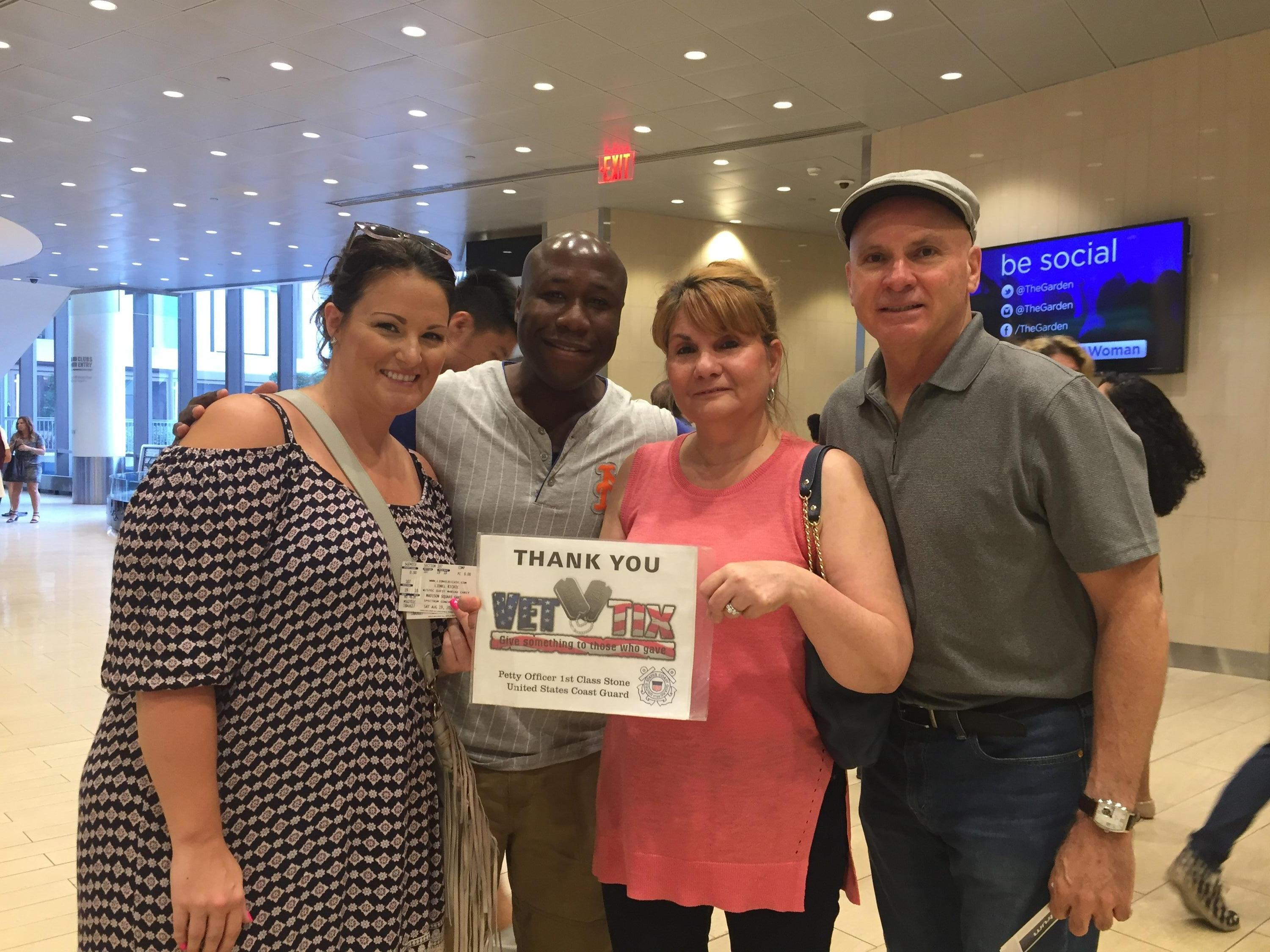 Thank you messages to veteran tickets foundation donors efrain attended lionel richie and very special guest mariah carey on aug 19th 2017 via vettix kristyandbryce Gallery
