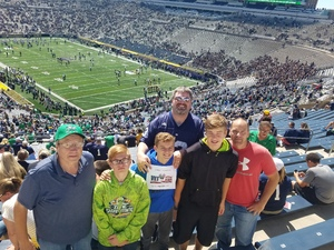 Click To Read More Feedback from Notre Dame Fighting Irish vs. Temple - NCAA Football - PAH Tickets