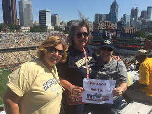 Augusto attended Georgia Tech Yellow Jackets vs. Jacksonville State - NCAA Football on Sep 9th 2017 via VetTix