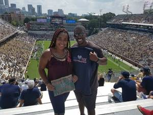 Dmitri attended Georgia Tech Yellow Jackets vs. Pittsburgh - NCAA Football on Sep 23rd 2017 via VetTix