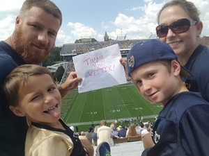 Charles attended Georgia Tech Yellow Jackets vs. Pittsburgh - NCAA Football on Sep 23rd 2017 via VetTix