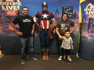 Francisco attended Marvel Universe Live! Age of Heroes - Show Tickets + Captain America Meet & Greet on Sep 8th 2017 via VetTix