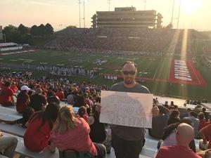 Jeremy attended University of New Mexico Lobos vs. Abilene Christian - NCAA Football on Sep 2nd 2017 via VetTix