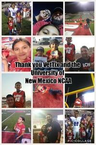 Anthony attended University of New Mexico Lobos vs. Abilene Christian - NCAA Football on Sep 2nd 2017 via VetTix