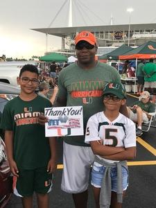 Click To Read More Feedback from Miami Hurricanes vs. Bethune-cookman - NCAA Football