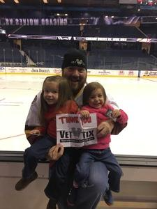Jeremy attended Chicago Wolves vs. Iowa Wild - AHL on Nov 26th 2017 via VetTix