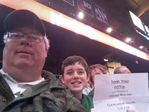 Christopher attended Chicago Wolves vs. Cleveland Monsters - AHL on Jan 21st 2018 via VetTix