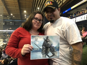 Marissa attended Chicago Wolves vs. Cleveland Monsters - AHL on Jan 21st 2018 via VetTix