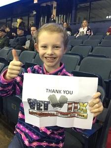 Sara attended Chicago Wolves vs. Cleveland Monsters - AHL on Jan 21st 2018 via VetTix