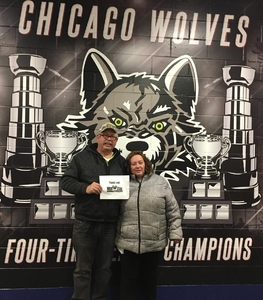 David attended Chicago Wolves vs. Milwaukee Admirals - AHL on Apr 7th 2018 via VetTix