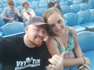 RYAN attended Brad Paisley: Weekend Warrior World Tour 2017 With Special Guest Dustin Lynch, Chase Bryant and Lindsay Ell - Lawn Seats on Sep 24th 2017 via VetTix