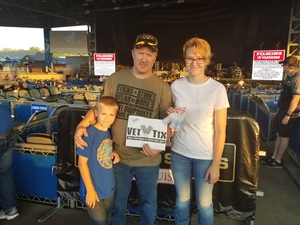 Cody Kamplain attended Brad Paisley: Weekend Warrior World Tour 2017 With Special Guest Dustin Lynch, Chase Bryant and Lindsay Ell - Lawn Seats on Sep 24th 2017 via VetTix