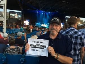 MSgt Bill attended Brad Paisley: Weekend Warrior World Tour 2017 With Special Guest Dustin Lynch, Chase Bryant and Lindsay Ell - Lawn Seats on Sep 24th 2017 via VetTix