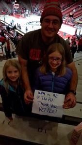 Andrew attended University of New Mexico Lobos vs. Arizona - NCAA Mens Basketball on Dec 16th 2017 via VetTix