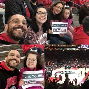 Harrison attended University of New Mexico Lobos vs. UNLV - NCAA Mens Basketball on Feb 25th 2018 via VetTix