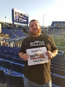 Jeff attended Navy Midshipmen vs. Tulane - NCAA Football on Sep 9th 2017 via VetTix