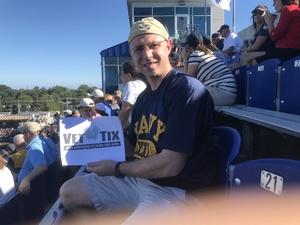 Justin attended Navy Midshipmen vs. Cincinnati - NCAA Football on Sep 23rd 2017 via VetTix