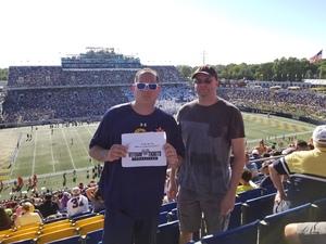 Richard attended Navy Midshipmen vs. Cincinnati - NCAA Football on Sep 23rd 2017 via VetTix