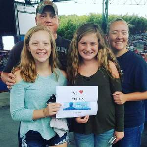 Herb Myers attended Brad Paisley: Weekend Warrior World Tour 2017 With Special Guest Dustin Lynch, Chase Bryant and Lindsay Ell on Sep 10th 2017 via VetTix