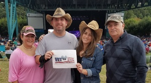 Jon attended Brad Paisley: Weekend Warrior World Tour 2017 With Special Guest Dustin Lynch, Chase Bryant and Lindsay Ell on Sep 10th 2017 via VetTix