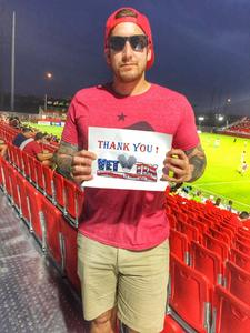 ROBERTSON attended Phoenix Rising FC vs. Seattle Sounders FC 2 - USL on Sep 2nd 2017 via VetTix