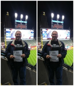 VINCENT attended Cleveland Indians vs. Detroit Tigers - MLB on Sep 11th 2017 via VetTix