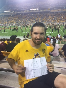 Austin attended Arizona State Sun Devils vs. San Diego State - NCAA Football on Sep 9th 2017 via VetTix