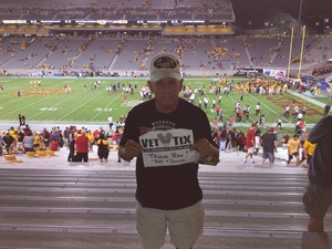 RONALD attended Arizona State Sun Devils vs. San Diego State - NCAA Football on Sep 9th 2017 via VetTix