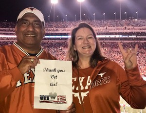 Mark attended University of Texas Longhorns vs. Texas Tech- NCAA Football on Nov 24th 2017 via VetTix