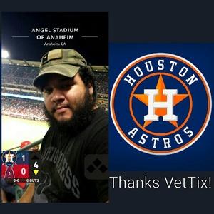 Jamie attended Los Angeles Angels vs. Houston Astros - MLB on Sep 12th 2017 via VetTix