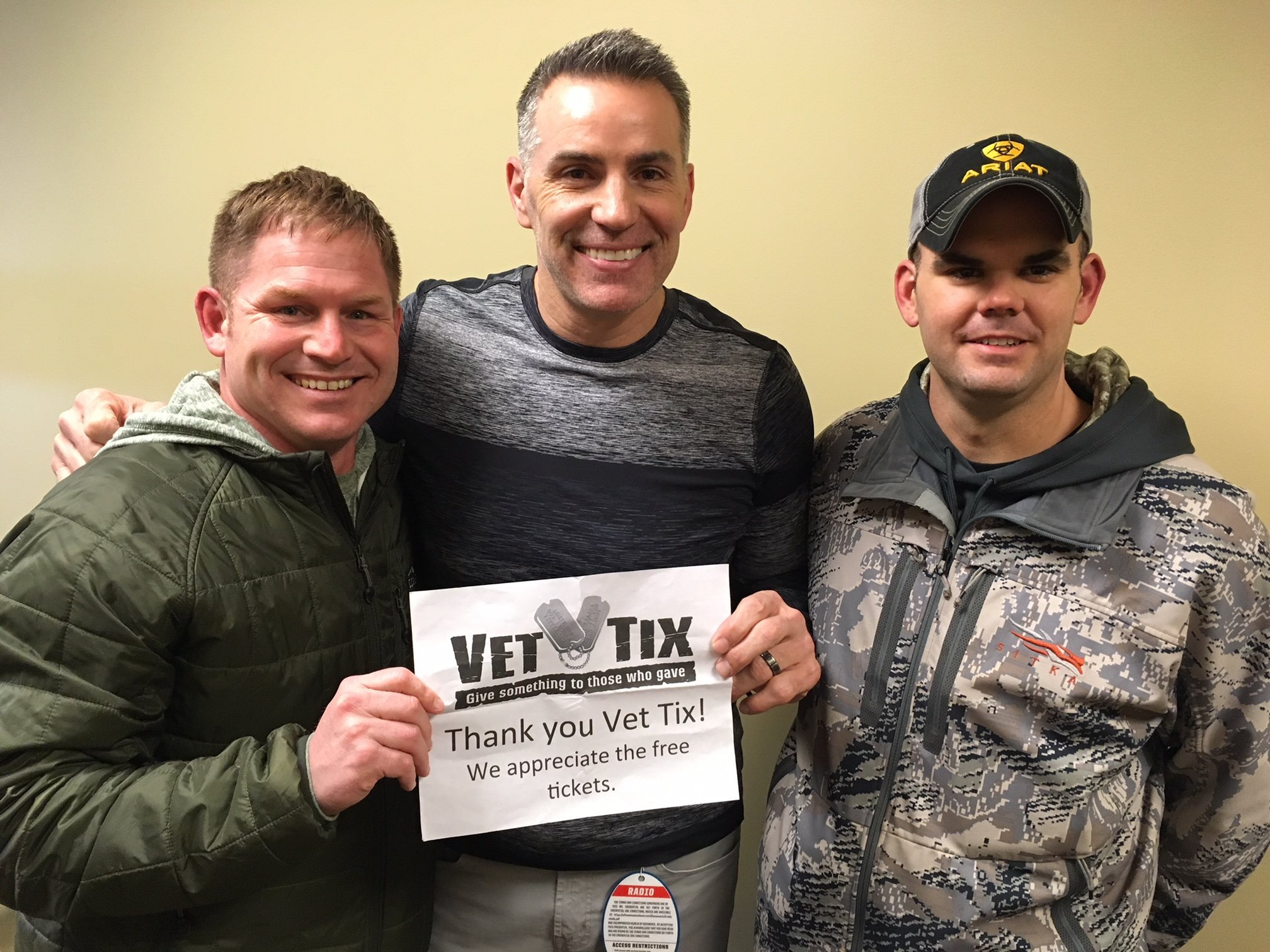 Thank you messages to veteran tickets foundation donors brian attended kansas city chiefs vs denver broncos nfl kurt warner meet and m4hsunfo