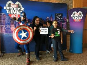 Joslyn attended Marvel Universe Live! Age of Heroes - Show Tickets + Captain America Meet & Greet on Sep 28th 2017 via VetTix