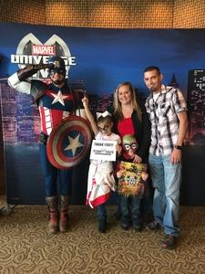 Sam attended Marvel Universe Live! Age of Heroes - Show Tickets + Captain America Meet & Greet on Sep 28th 2017 via VetTix