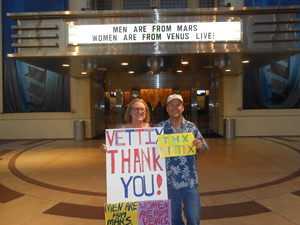 alan attended Men Are From Mars - Women Are From Venus on Sep 9th 2017 via VetTix