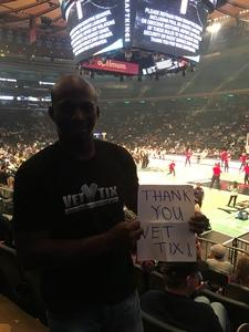 William attended New York Liberty vs. Washington Mystics - WNBA Playoffs on Sep 10th 2017 via VetTix