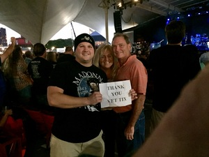 Tyler attended Pat Benatar and Neil Giraldo With Toto on Sep 12th 2017 via VetTix