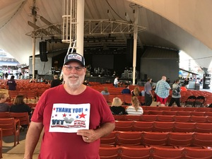 James attended Pat Benatar and Neil Giraldo With Toto on Sep 12th 2017 via VetTix