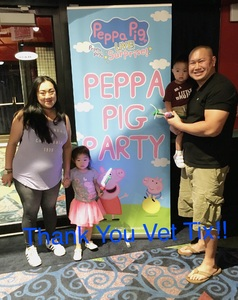 Oura attended Peppa Pig Live - Evening Show on Oct 7th 2017 via VetTix