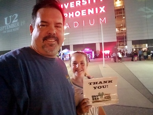 Travis attended U2 the Joshua Tree Tour 2017 - Opening: Beck - Live in Concert on Sep 19th 2017 via VetTix