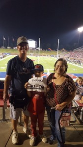 STEPHEN attended Southern Methodist University Mustangs vs. Arkansas State - NCAA Football on Sep 23rd 2017 via VetTix