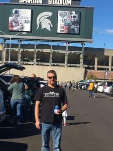 Steve attended Michigan State Spartans vs. Iowa - NCAA Football on Sep 30th 2017 via VetTix