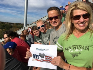 Kay attended Michigan State Spartans vs. Indiana - NCAA Football on Oct 21st 2017 via VetTix