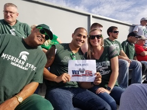Brian attended Michigan State Spartans vs. Indiana - NCAA Football on Oct 21st 2017 via VetTix